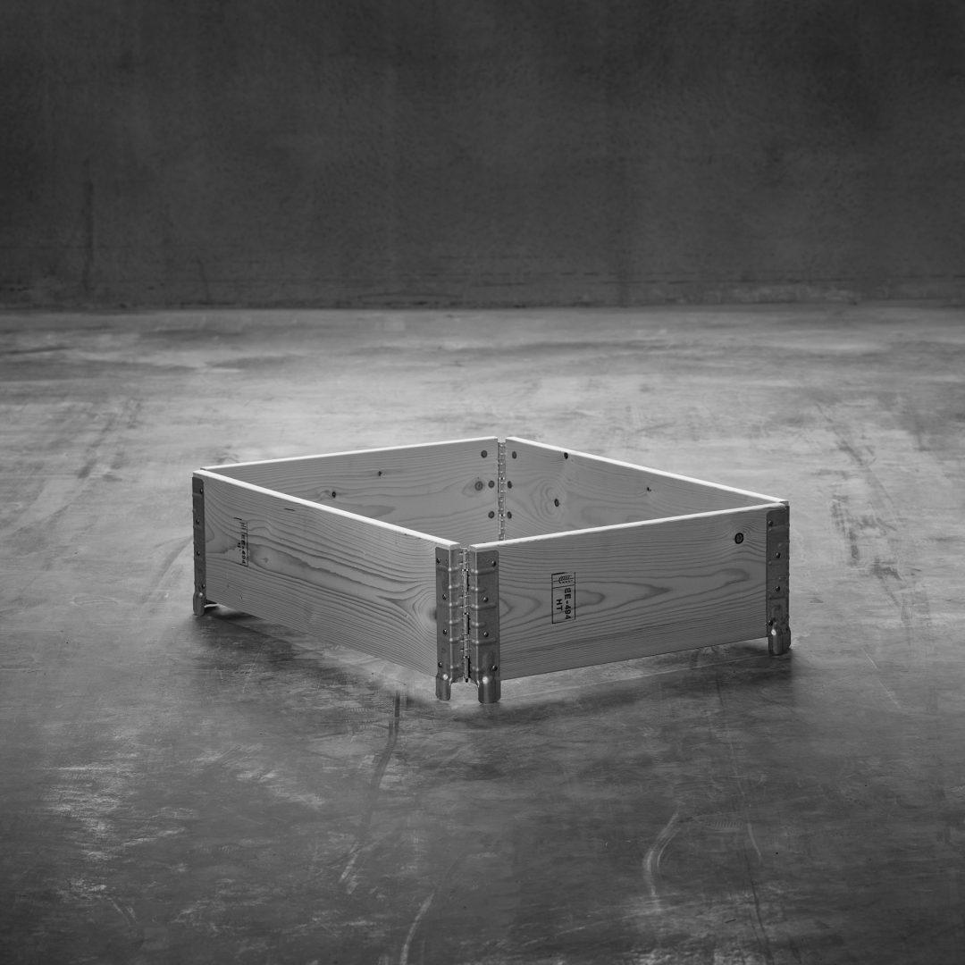 Produktbild: Pallkrage till halvpall, stående på betonggolv